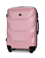 Чемодан Fly 147 средний 67х43х26 см 60л пластиковый на 4 колесах Светло-розовый