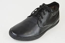 Ботинки низкие мех-цигейка Badura 4307 черные кожа 45 размер