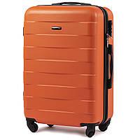 Чемодан Wings 401 средний 65х43х22 см 59л пластиковый на 4 колесах Оранжевый