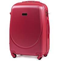 Чемодан Wings K310 средний 65х44х27 см 62 л пластиковый на 4 колесах Розовый (blood red)