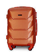 Чемодан Fly К147 малый 55х39х23 см Ручная кладь на 4 колесах Оранжевый