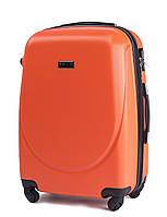 Чемодан Wings 310 средний 65х44х27 см 62л пластиковый на 4 колесах Оранжевый, фото 1