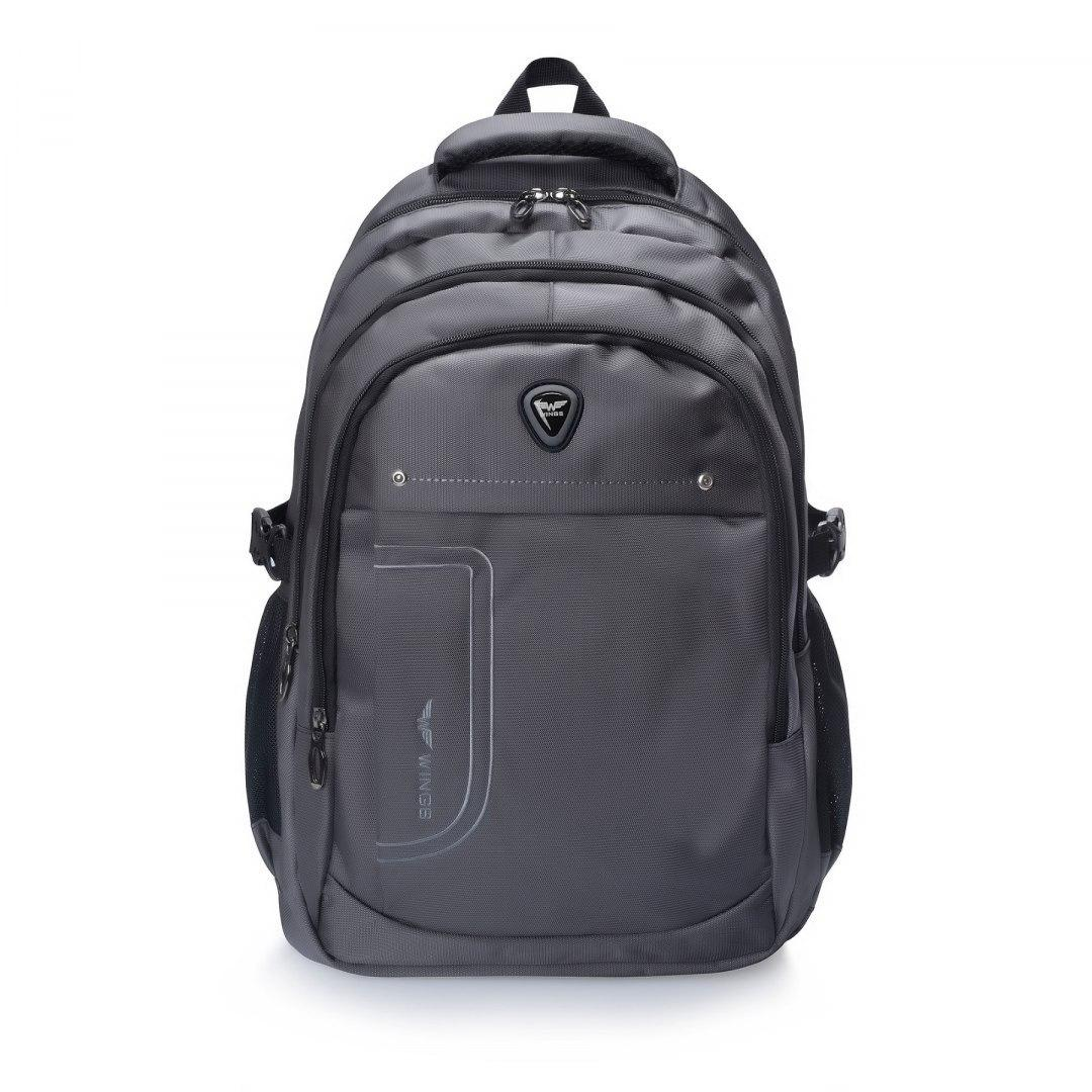 Рюкзак городской с отделением под ноутбук Wings BP124-24 Ручная кладь 47x30x18 см Серый