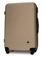 Чемодан Fly 91240 большой 75х49х29 см 90л пластиковый на 4 колесах Золотой
