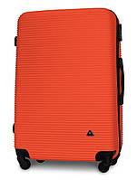 Чемодан Fly 91240 большой 75х49х29 см 90л пластиковый на 4 колесах Оранжевый