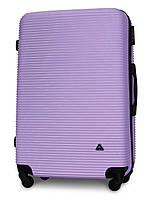 Чемодан Fly 91240 большой 75х49х29 см 90л пластиковый на 4 колесах Светло-фиолетовый
