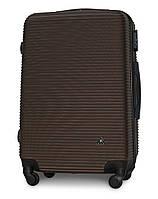 Чемодан Fly 91240 средний 65х42х24 см 60л пластиковый на 4 колесах Коричневый