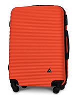 Чемодан Fly 91240 средний 65х42х24 см 60 л пластиковый на 4 колесах Оранжевый
