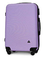 Чемодан Fly 91240 средний 65х42х24 см 60л пластиковый на 4 колесах Светло-фиолетовый