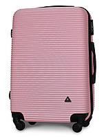 Чемодан Fly 91240 средний 65х42х24 см 60л пластиковый на 4 колесах Розовый