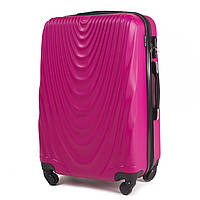 Чемодан Wings 304 средний 66х43х27 см 66л пластиковый на 4 колесах Розовый, фото 1