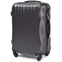 Чемодан Wings 159 средний 65х45х25 см 58л пластиковый на 4 колесах Темно-серый, фото 1