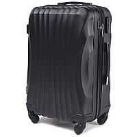 Чемодан Wings 159 средний 65х45х25 см 58л пластиковый на 4 колесах Черный, фото 1