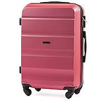 Чемодан Wings AT01 средний 67х43х26 см 59л пластиковый на 4 колесах Розовый, фото 1