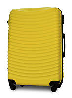Чемодан Fly 1053 большой 75х49х29 см 90л пластиковый на 4 колесах Желтый