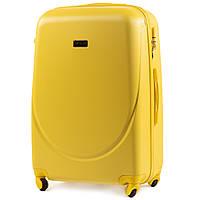 Чемодан Wings K310 большой 75х47х29 см 86л пластиковый на 4 колесах Желтый, фото 1