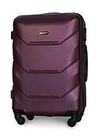 Большой чемодан 78х49х28 см 90 л Fly 147 пластиковый на 4 колесах Темно-фиолетовый