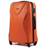 Чемодан Wings 518 большой 76х49х28 см 79л пластиковый на 4 колесах Оранжевый
