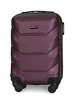 Мини чемодан 53х33х19 см Fly 147 Ручная кладь на 4 колесах Темно-фиолетовый