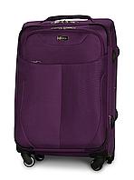 Чемодан Fly 1807 средний 64х43х28 см 58л тканевый на 4 колесах Фиолетовый