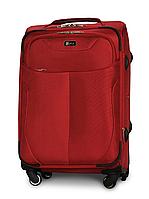 Чемодан Fly 1807 средний 64х43х28 см 58 л тканевый на 4 колесах Красный
