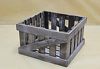 Ящик декоративный ДЯС-1 КОРИЧНЕВО-БЕЛЫЙ (средний, квадратный)