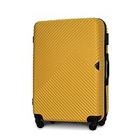 Чемодан Fly 2702 большой 75х50х27 см 94л пластиковый на 4 колесах Желтый