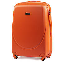 Чемодан Wings K310 большой 75х47х29 см 86л пластиковый на 4 колесах Оранжевый