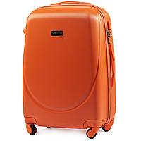 Чемодан Wings K310 средний 65х44х27 см 62л пластиковый на 4 колесах Оранжевый