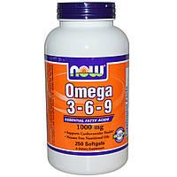 Омега 3-6-9 жирные кислоты США 1.07 г 100 капсул, купить, цена, отзывы