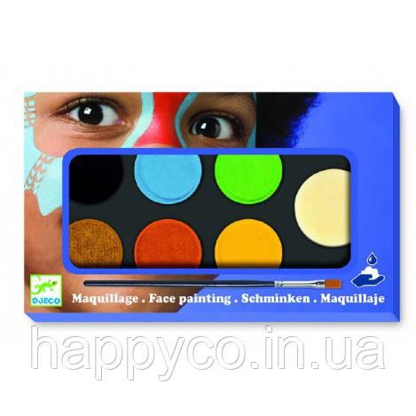 Грим для лица палитра 6 цветов природа (нежность, металлик)