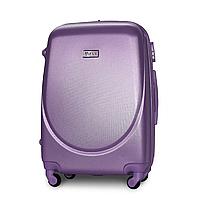 Чемодан Fly К310 средний 65х44х27 см 60 л пластиковый на 4 колесах Серебряно-фиолетовый