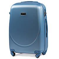 Чемодан Wings K310 средний 65х44х27 см 62 л пластиковый на 4 колесах Голубое серебро