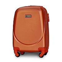 Чемодан Fly К310 мини 51х35х20 см Ручная кладь на 4 колесах Серебряно-оранжевый
