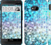 """Чехол на HTC One M7 Переливающаяся чешуя """"227c-36"""""""