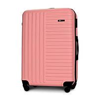 Чемодан Fly 1096 большой 74х49х28 см 94л пластиковый на 4 колесах Светло-розовый
