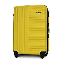 Чемодан Fly 1096 большой 74х49х28 см 94л пластиковый на 4 колесах Желтый