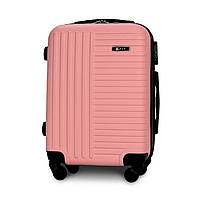Чемодан Fly 1096 малый 54х37х22 см Ручная кладь на 4 колесах Светло-розовый