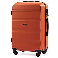 Чемодан Wings AT01 средний 67х43х26 см 59 л пластиковый на 4 колесах Оранжевый