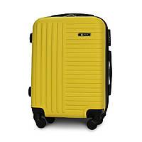 Чемодан Fly 1096 малый 54х37х22 см Ручная кладь на 4 колесах Желтый