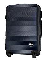 Чемодан Fly 91240 средний 65х42х24 см 60 л пластиковый на 4 колесах Темно-синий