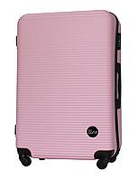 Чемодан Fly 91240 большой 75х49х29 см 90л пластиковый на 4 колесах Светло-розовый