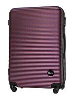 Чемодан Fly 91240 большой 75х49х29 см 90 л пластиковый на 4 колесах Темно-фиолетовый