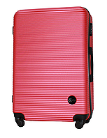 Чемодан Fly 91240 большой 75х49х29 см 90л пластиковый на 4 колесах Темно-розовый