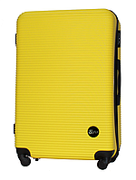 Чемодан Fly 91240 большой 75х49х29 см 90л пластиковый на 4 колесах Желтый