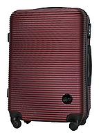 Чемодан Fly 91240 средний 65х42х24 см 60 л пластиковый на 4 колесах Бордовый