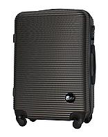 Чемодан Fly 91240 средний 65х42х24 см 60 л пластиковый на 4 колесах Темно-серый