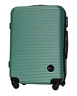 Чемодан Fly 91240 средний 65х42х24 см 60л пластиковый на 4 колесах Изумрудный