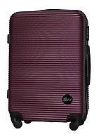 Чемодан Fly 91240 средний 65х42х24 см 60 л пластиковый на 4 колесах Темно-фиолетовый