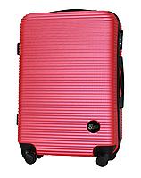 Чемодан Fly 91240 средний 65х42х24 см 60л пластиковый на 4 колесах Темно-розовый
